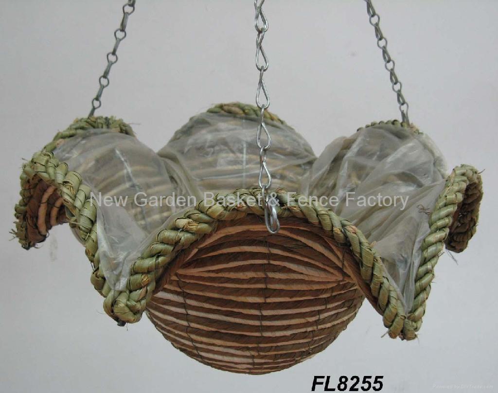 Star Cone Hanging Basket Rattan Basket Hanging Flower