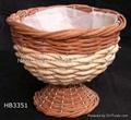 rattan planter,rattan flower pot,rattan basket,flower planter,wicker basket 5