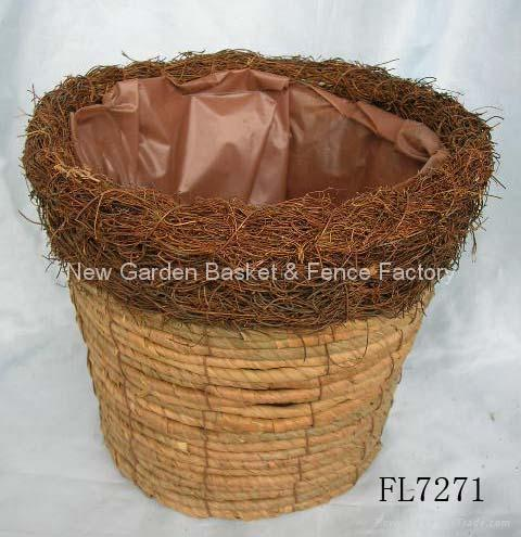 flower pot basket,garden pot,plant pot,gardening planter,rattan basket 3