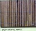 Split bamboo fence,Bamboo slat fence