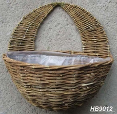 rattan wall basket,wall planter,Rattan Hanging Basket,hanging flower basket