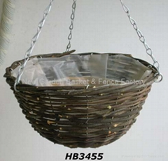 Rattan Hanging Basket,hanging flower basket,hanging planter,basket,wicker basket