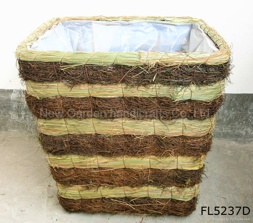 Rattan Flower Baskets : Rattan planter flower pot basket