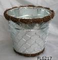 zinc planter,zinc pot,flower pot,flower planter,tin planter,galvanized planter 1