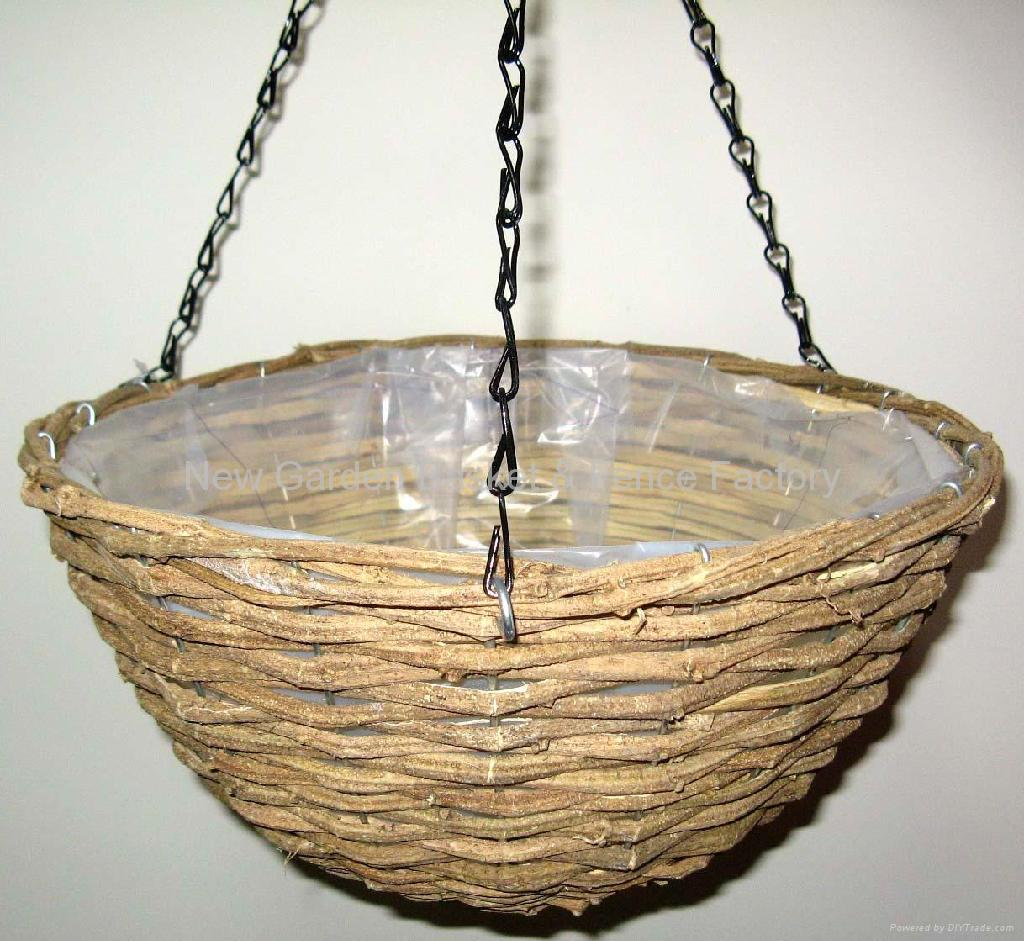 Best Rattan Hanging Basket,hanging flower basket,hanging planter,basket  VQ05