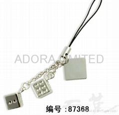 metal dice mobilephone strap