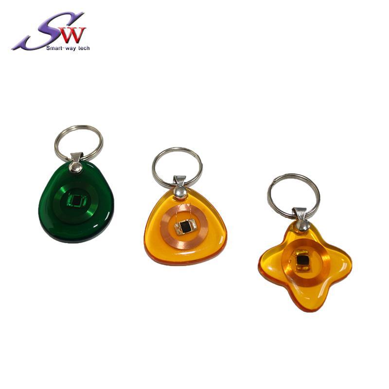 13.56Mhz Custom design RFID Epoxy Keychain Tag 1