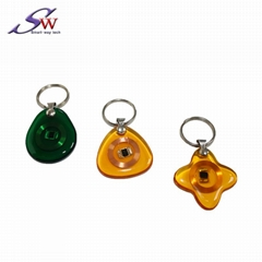 13.56Mhz Custom design RFID Epoxy Keychain Tag
