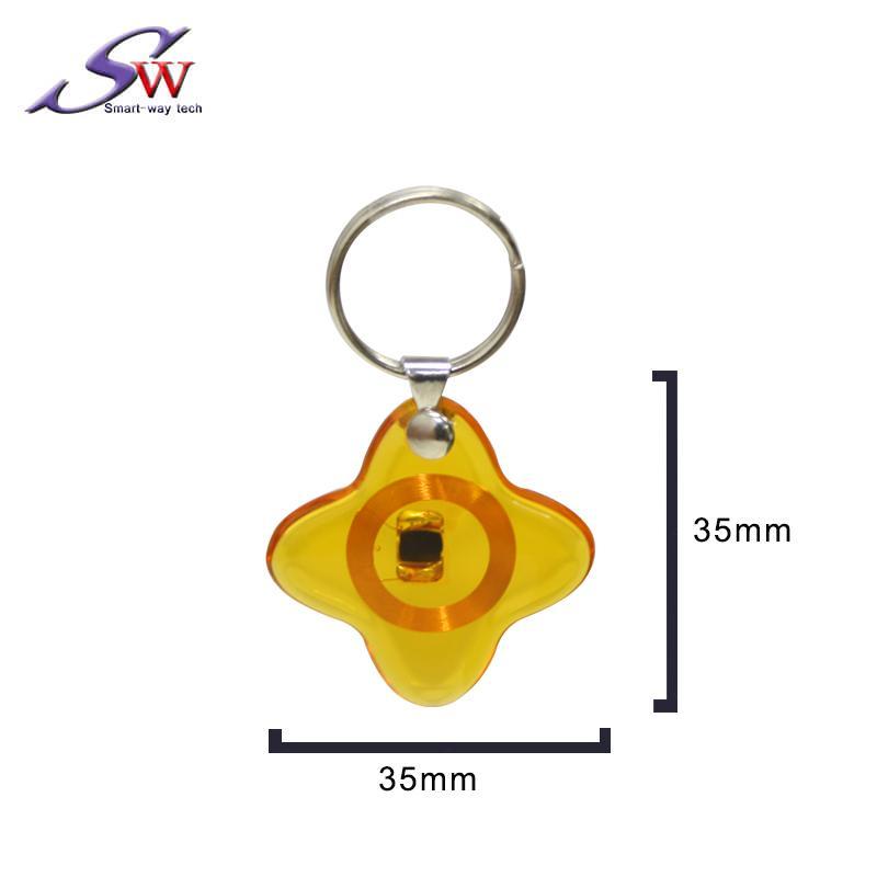13.56Mhz Custom design RFID Epoxy Keychain Tag 3