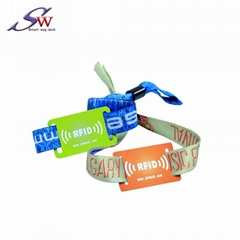 woven fabric rfid wristband for event