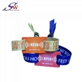woven fabric rfid wristband for event 3