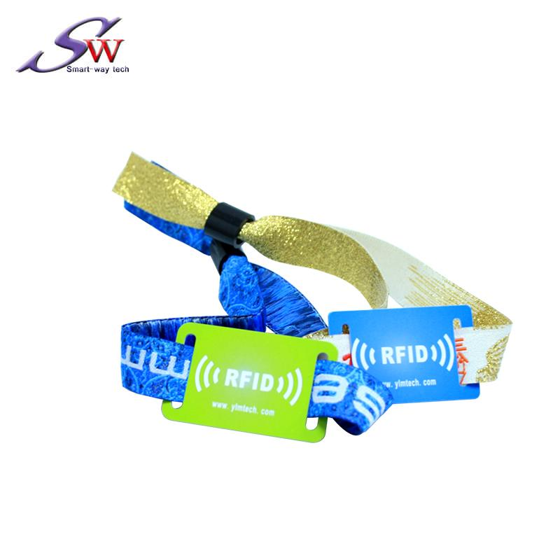 woven fabric rfid wristband for event 4