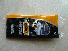 disposable razors BIC METAL(5pcs/poly bag)