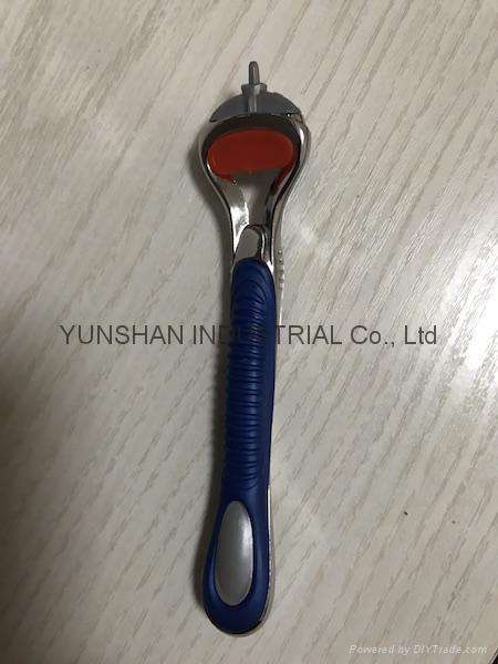 F series Compatible 5 blades shaving razor handle 3
