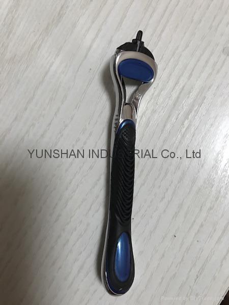 F series Compatible 5 blades shaving razor handle 1