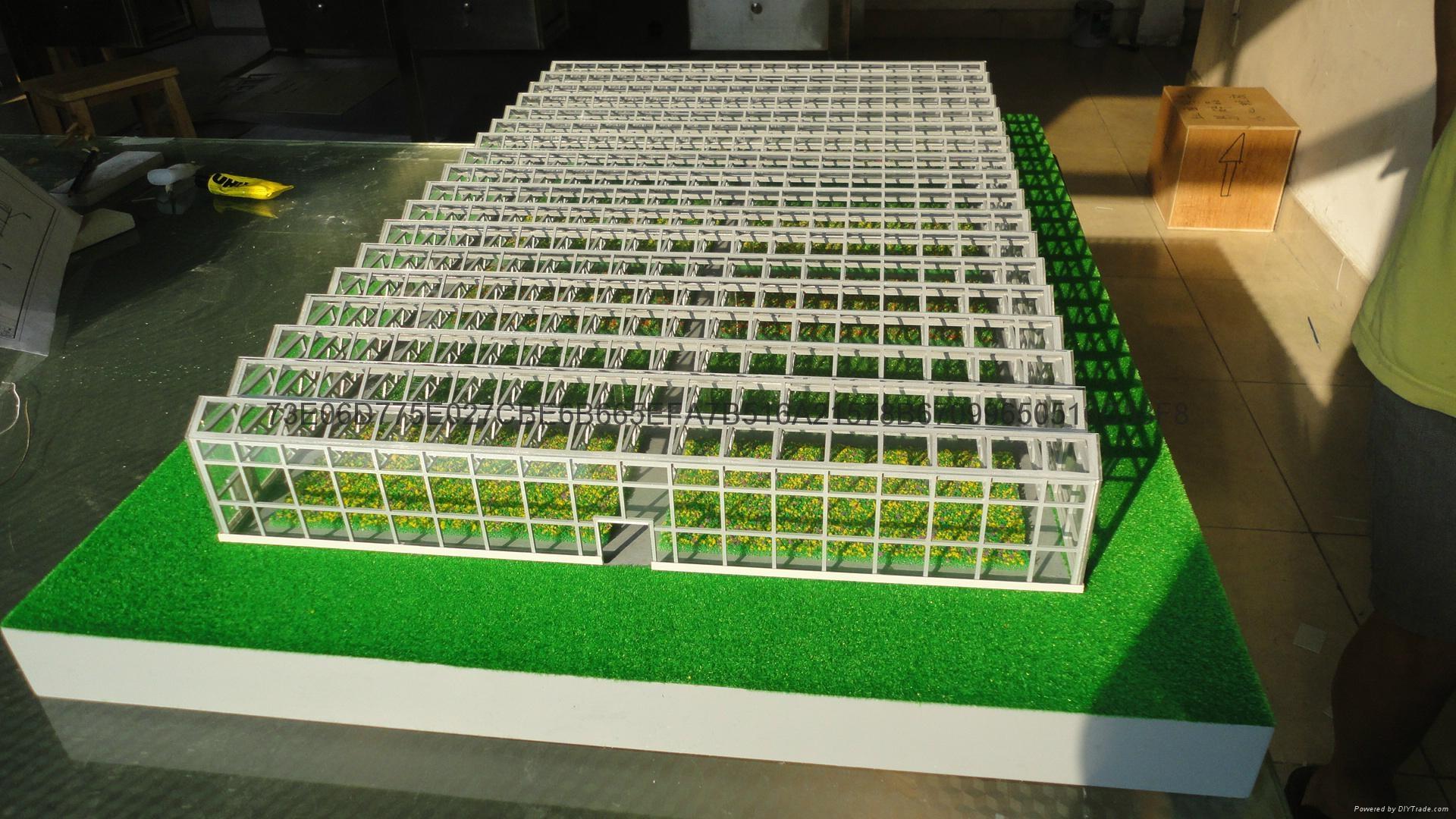 溫室陽光大棚沙盤製作  室內蔬菜大棚模型 1