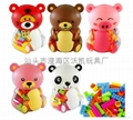 Piggy bank bear bottle Building blocks(48pcs) 1