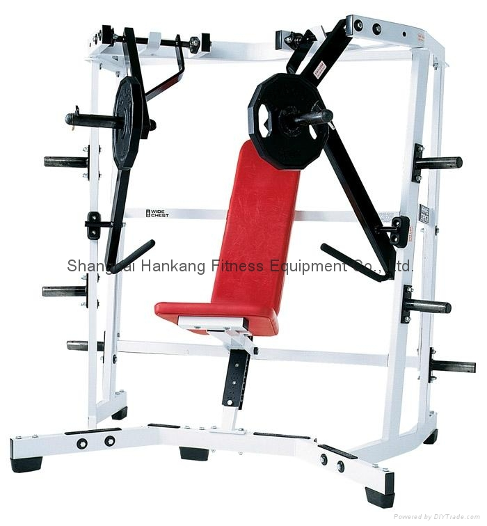 Hammer strength home gym body building iso lateral wide