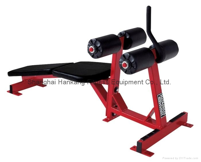 Hammer strength home gym body building decline abdominal
