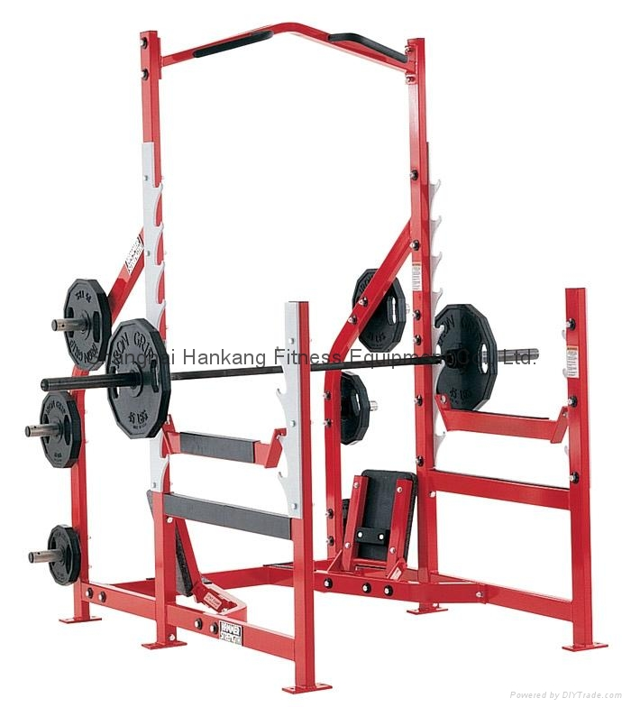 Hammer strength home gym body building olympic power rack