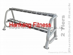 protraining equipme.fitness.hammer strength.2 TIERS DUMBBELL RACK-PT-854