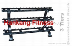 protraining equipme.fitness.hammer strength.3 TIERS DUMBBELL RACK-PT-855