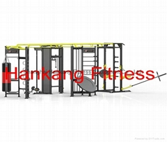 4 Stations Functional Training Zone- X Shape
