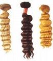 human hair weft deep weave ,human hair