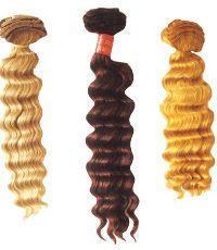 human hair weft deep wea