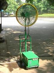 Outdoor mist cooling fan