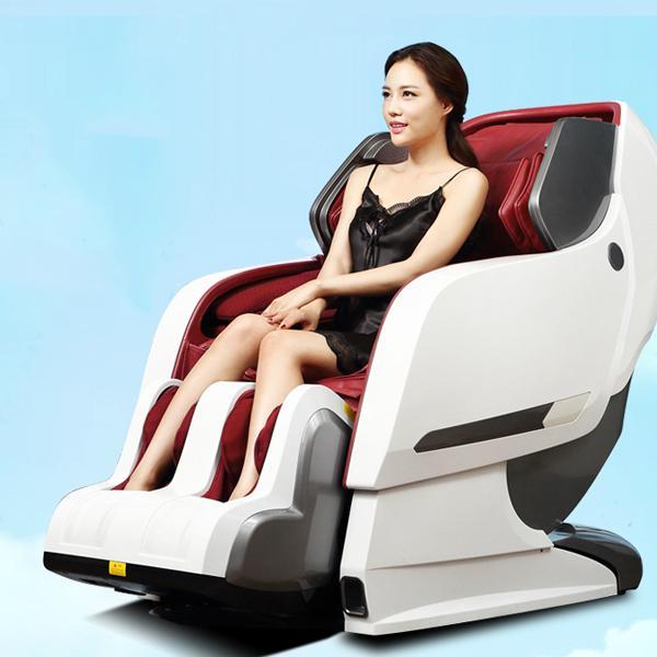 Luxury Full Body 3D Zero Gravity Leather Massage Chair  4