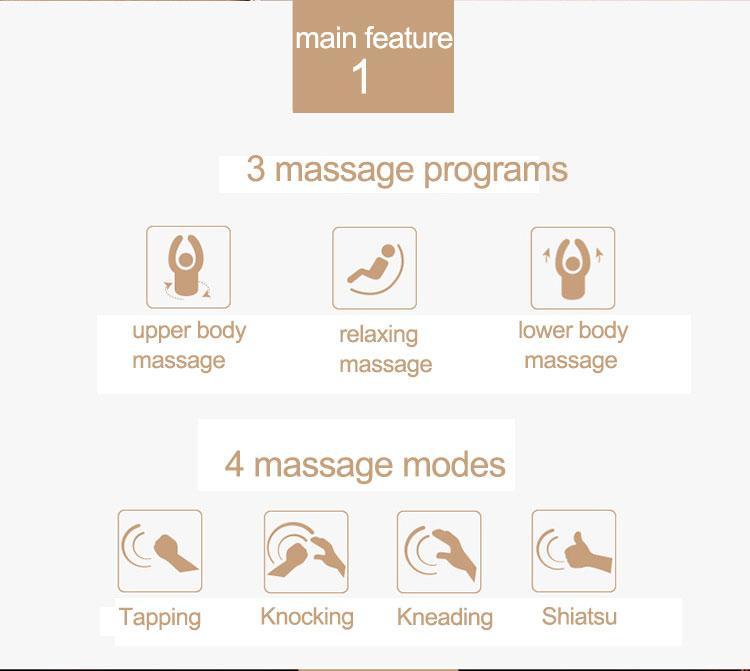 Intelligent Full Body Music Display Electric Massage Chair  7