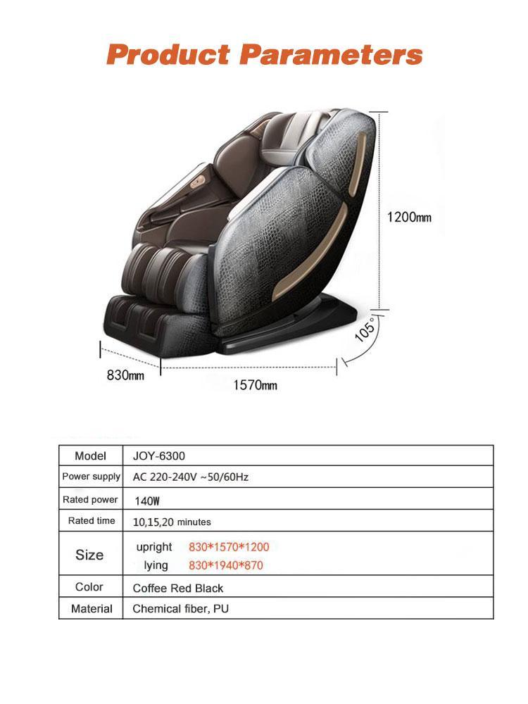 SL Shape track Wireless Music Massage Chair Full Body  10