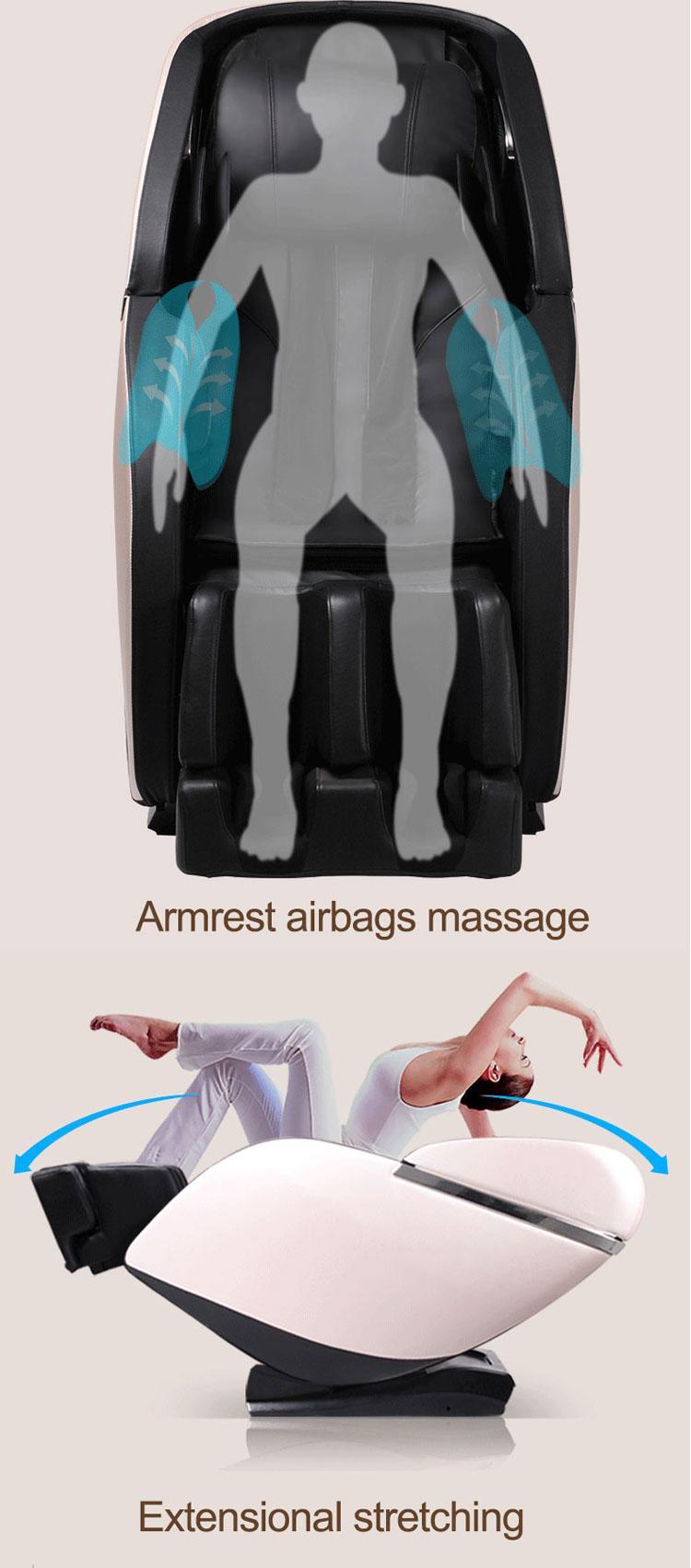 Luxury SL Track Kneading Ball Massage Chair Price  14