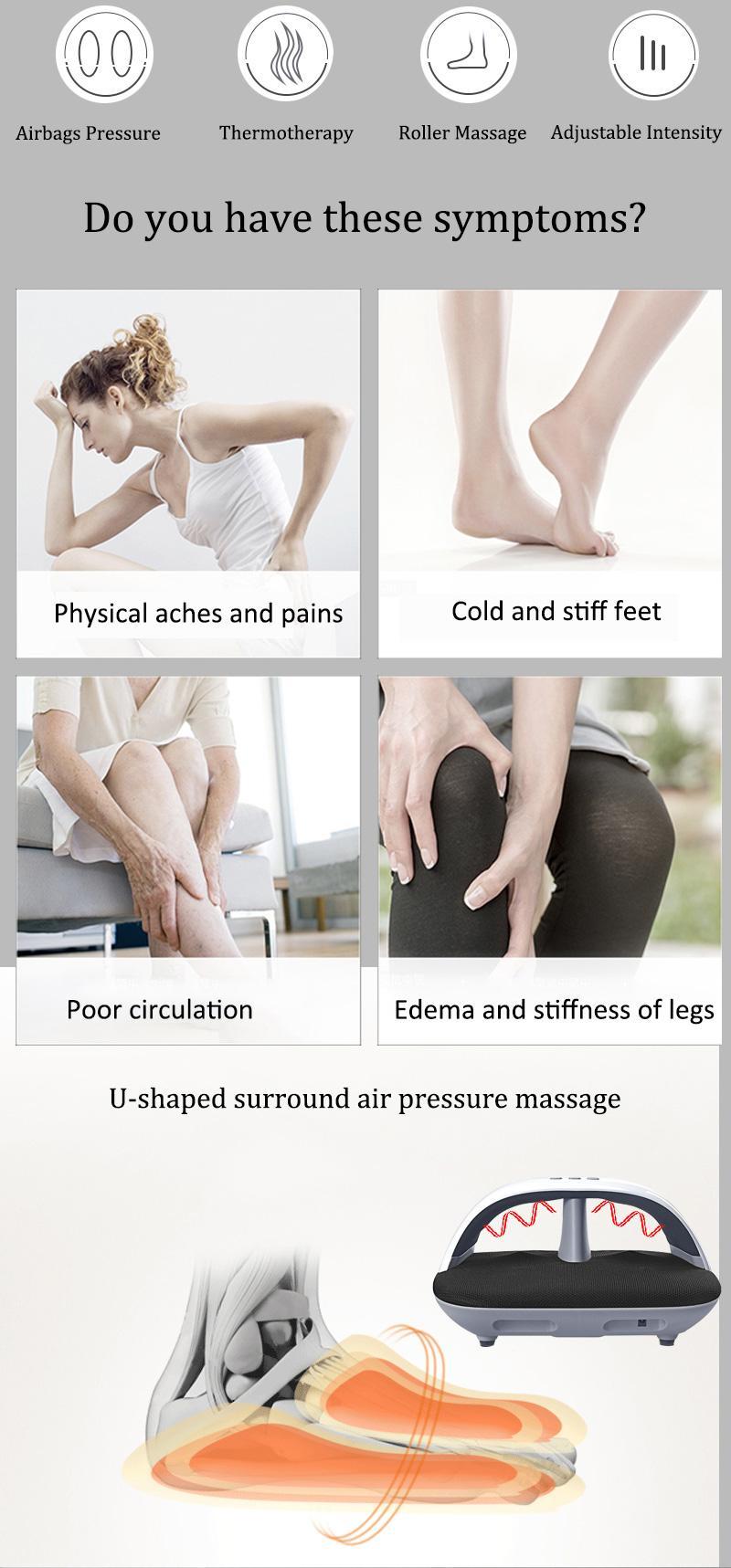electric far infrared kneading Air foot leg warmer massager  12