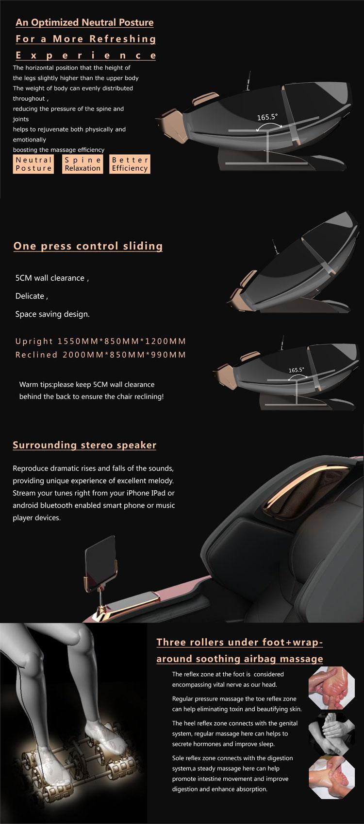 Healthcare Full Body Air Pressure 4D Massage Chair 7