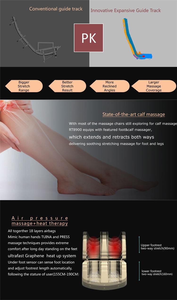 Healthcare Full Body Air Pressure 4D Massage Chair 8