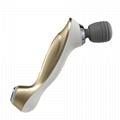 electric silicon vibrating facial massager