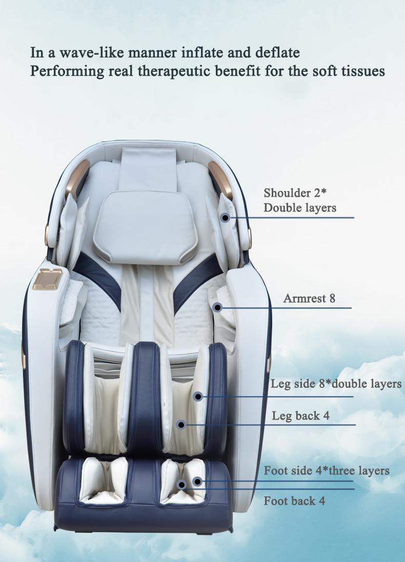 3D Zero Gravity Foot Thailand Massage Chair with Money  12