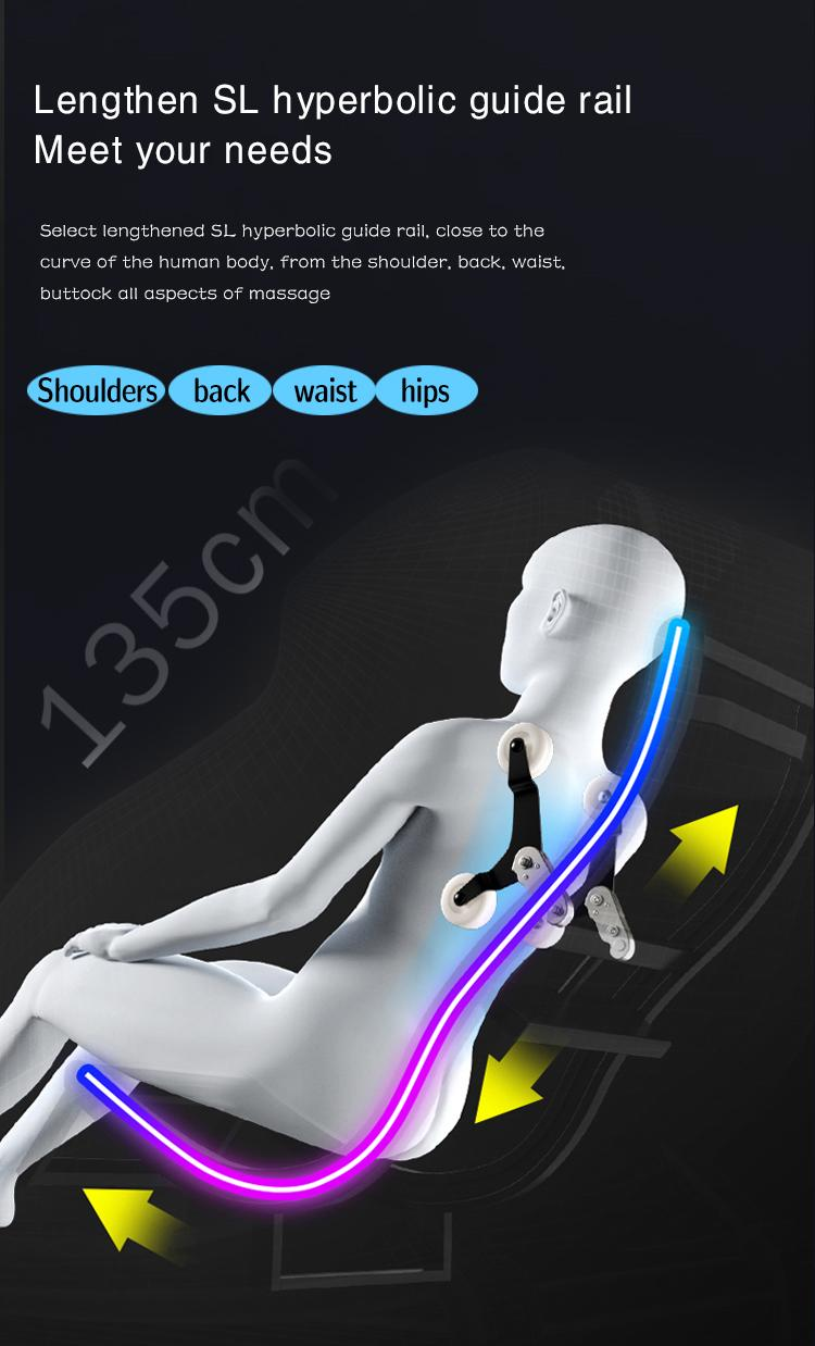 Plastic Cover 3D Deluxe Massager Chairs  8