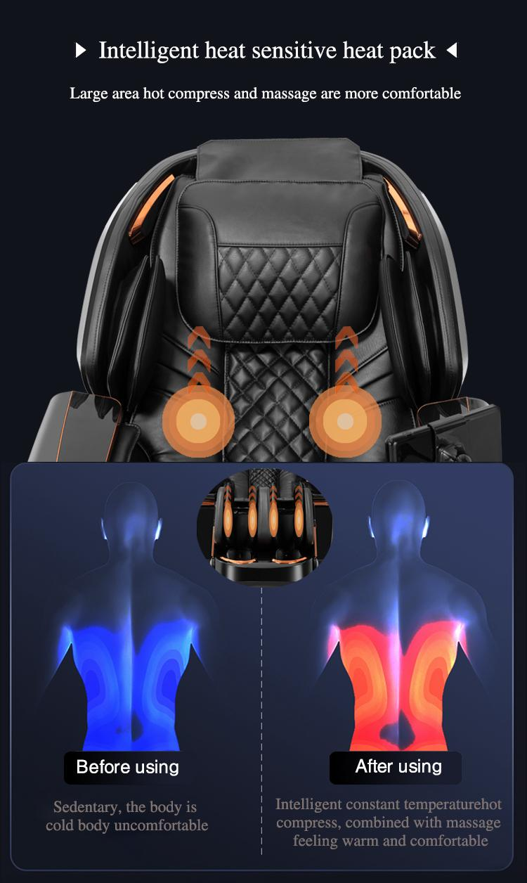 Plastic Cover 3D Deluxe Massager Chairs  10