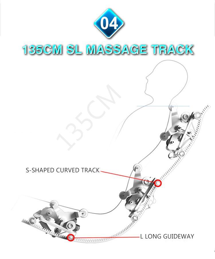 Full Body Recliner Shiatsu Massage Chair Zero Gravity 8