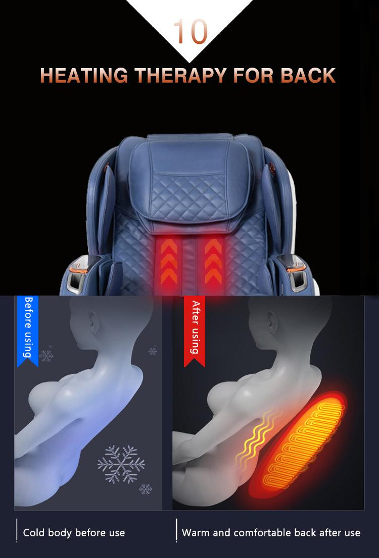 Deluxe multifunctional Air Bag Body Care Massage Chair With Foot Rollers 11