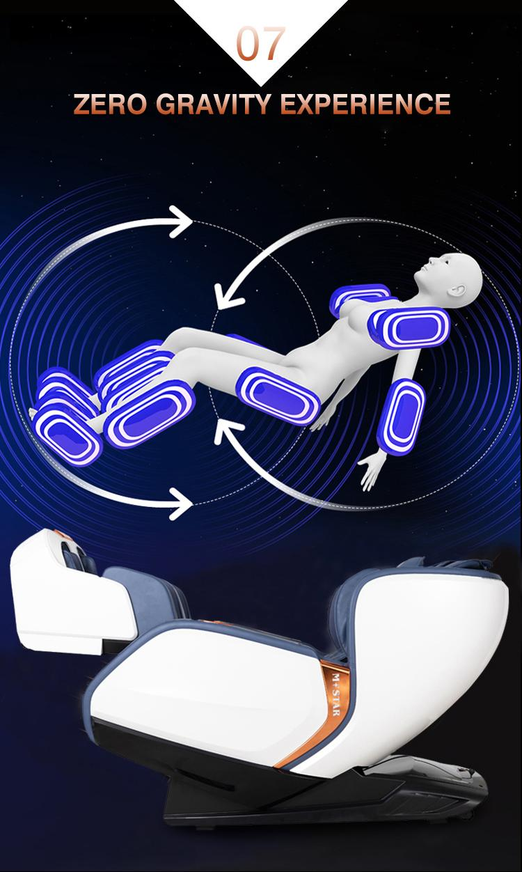 Deluxe multifunctional Air Bag Body Care Massage Chair With Foot Rollers 13