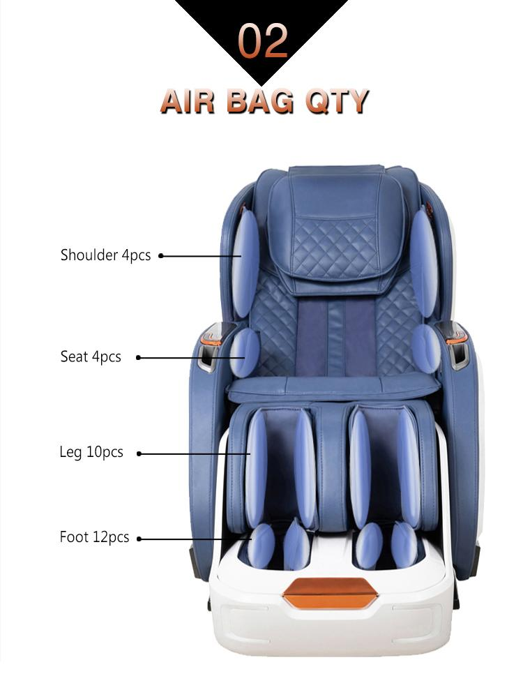 Deluxe multifunctional Air Bag Body Care Massage Chair With Foot Rollers 18