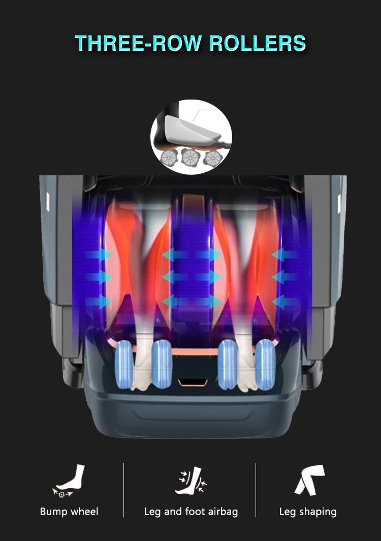 Best 5D Shiatsu Office Massage Chair Foot Rollers 9