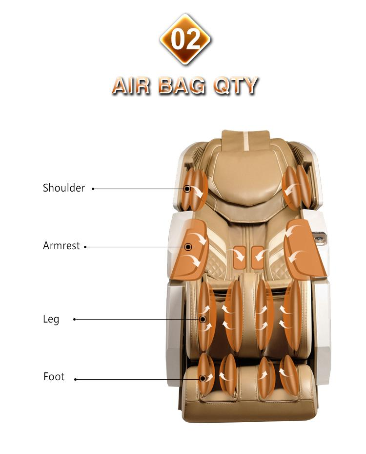 Wholesale Electric 3D Zero Gravity Massage Chair with Air Pressure Massage 7