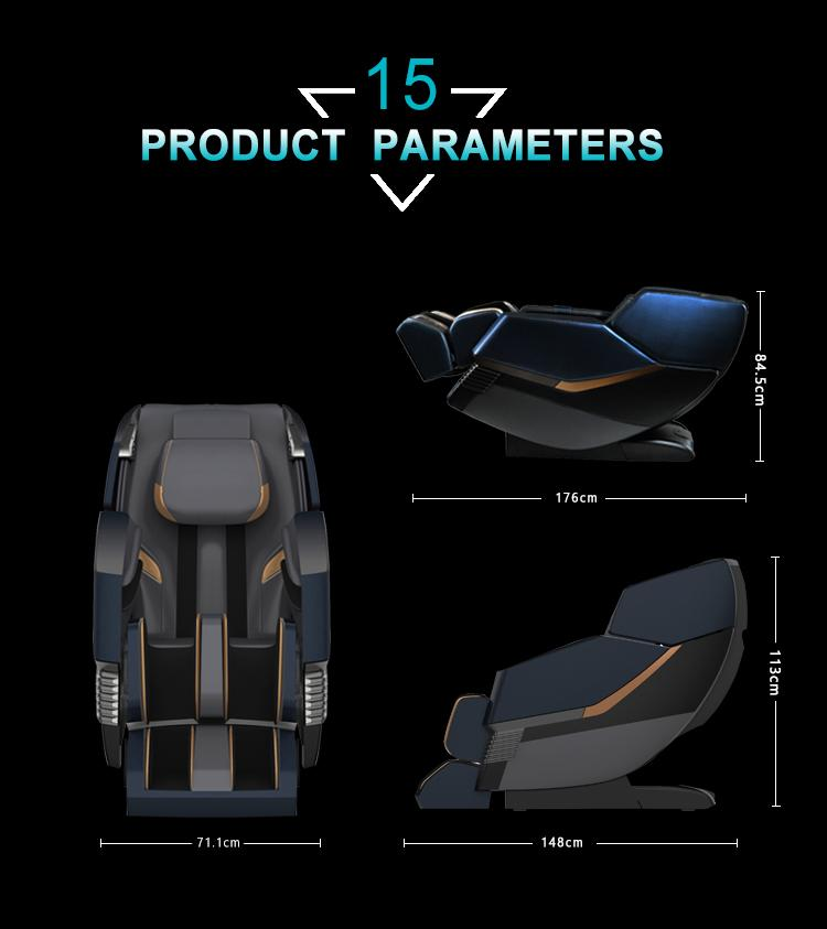 Full Leather Zero Gravity Recliner Massage Chair Parts 17