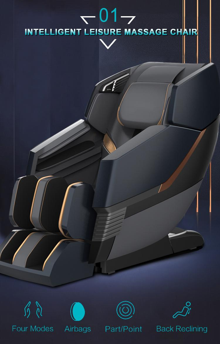 Full Leather Zero Gravity Recliner Massage Chair Parts 18