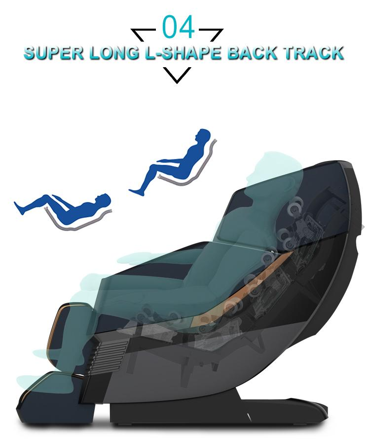 American 3D Luxury Electric 4d zero gravity Full Body Shiatsu Massage Chair  7